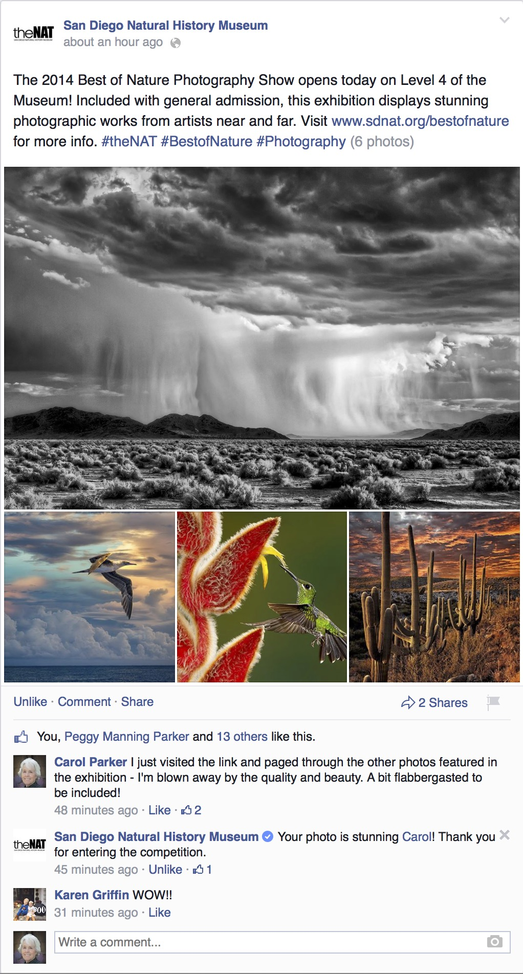 The Best of Nature Photography Show Opens Today!